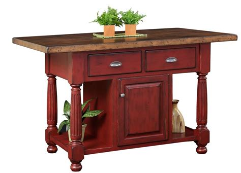 amish furniture kitchen island amish country kitchen island with drawers