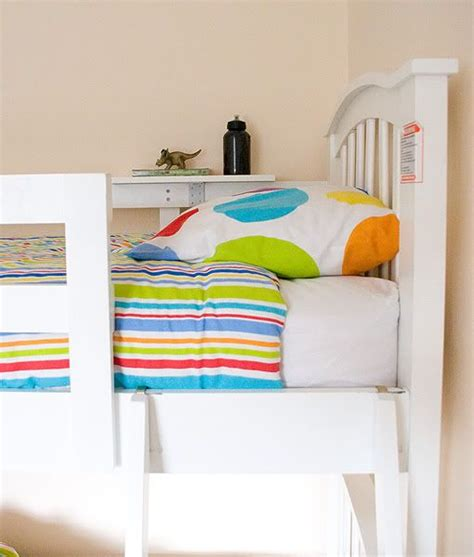 bunk bed with shelves and removeable and easy bunkbed shelf tutorial from athousandwords decorating