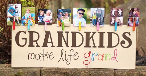 Cute Kitchen Ideas colorful grandkids make life grand wood sign photo display