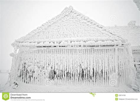 Frozen House by Frozen House At Winter Stock Photo Image 22874160