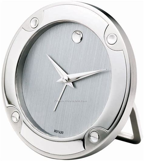Movado Clock Desk Alarm Clock Rsi009m by Movado Silver Museum Stainless Steel Alarm Clock Wholesale China