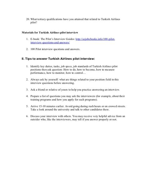 turkish airlines pilot questions