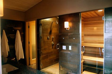 bathroom sauna steam room