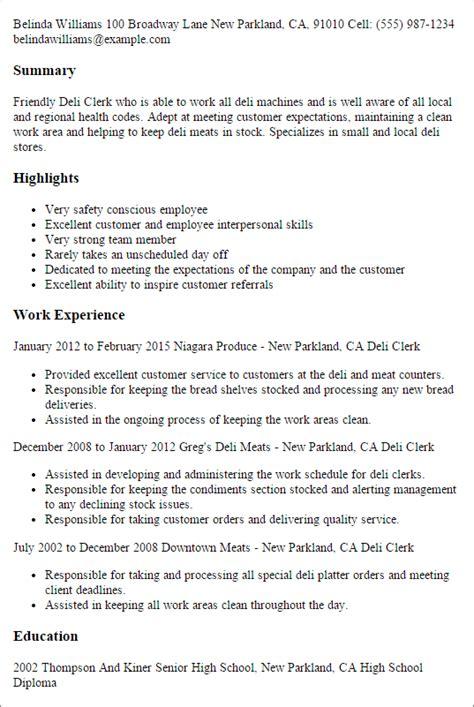 ideas collection job description for deli worker resume cv cover