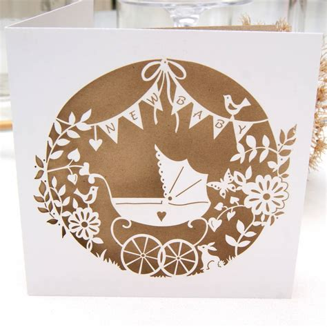 laser printable greeting cards new baby laser cut greeting card by the hummingbird card