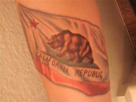 california flag tattoo california california state flag tattoos