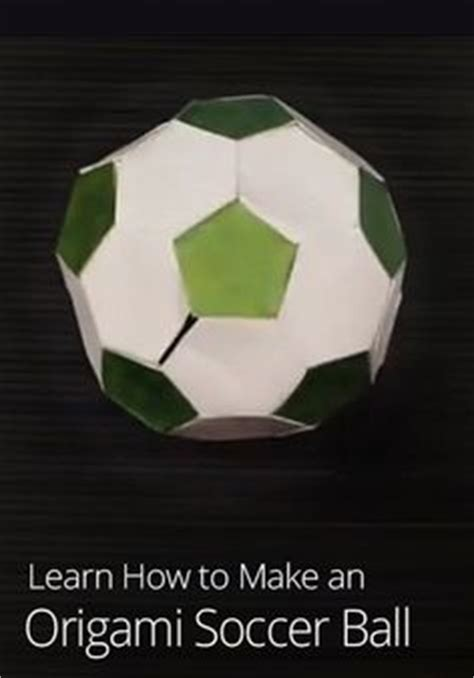 How To Make A Origami Soccer - this mosaics and on