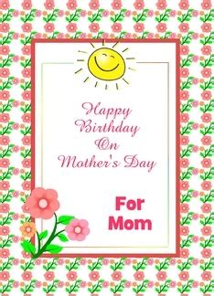 Flowers For Mother S Day Happy Birthday On Mother S Day For Mom Sun Flowers Custom