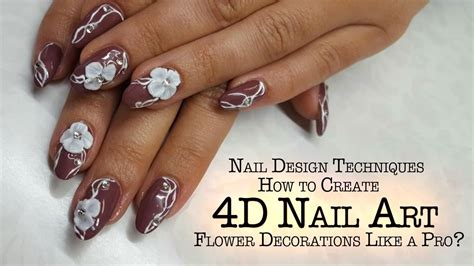 Nail 4d 4d nails how to create 4d nail flower decoration