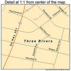 map of three rivers three rivers map 4872872