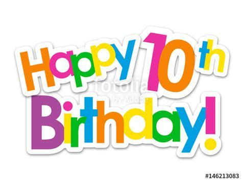 """""HAPPY 10th BIRTHDAY"" Card"" Stock image and royalty free"