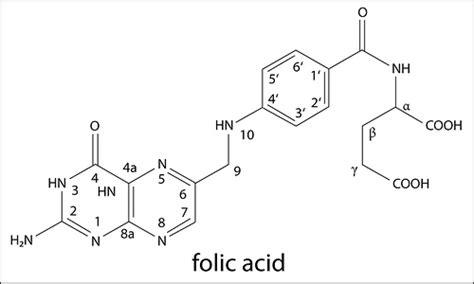 acid diagram folic acid structure