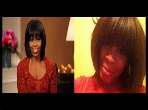 obama without wig michelle obama wig tutorial youtube