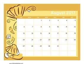 august 2017 printable calendar calendar printable free