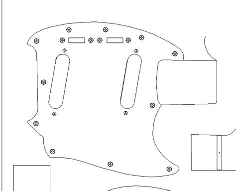 routing guide template fender 64 mustang routing template vinyl guitar