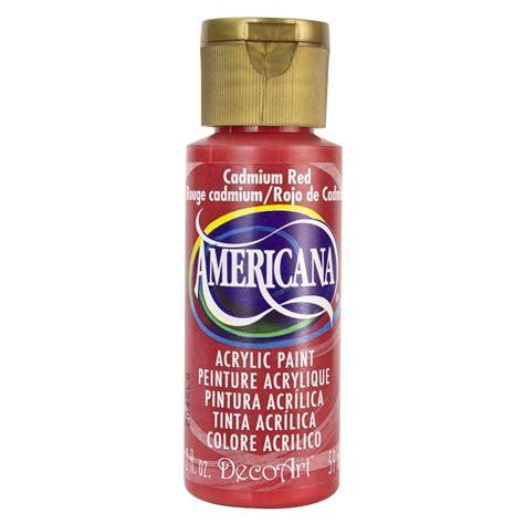 Decoart Americana 2 Oz Cadmium Acrylic Paint Dao15 3