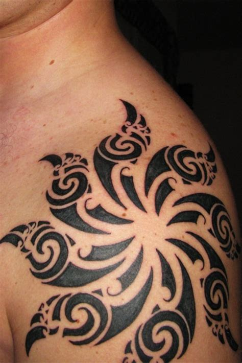 53 Wonderful Shoulder Sun Tattoo Sun Shoulder Tattoos For