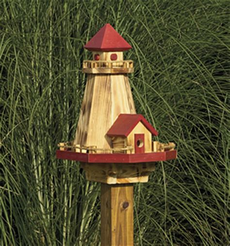 Handmade Birdhouses And Feeders - amish handmade country unique nautical lighthouse