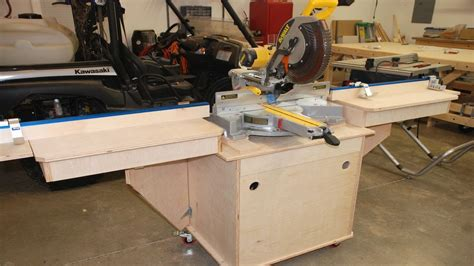 build miter saw bench build the fine woodworking miter saw station pt 3 youtube