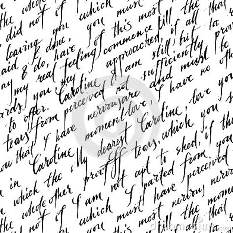 handwriting pattern wallpaper seamless pattern with handwriting text stock vector