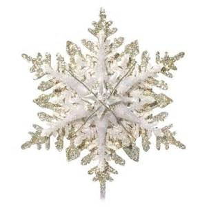 general electric 19 light glitter snowflake tree topper