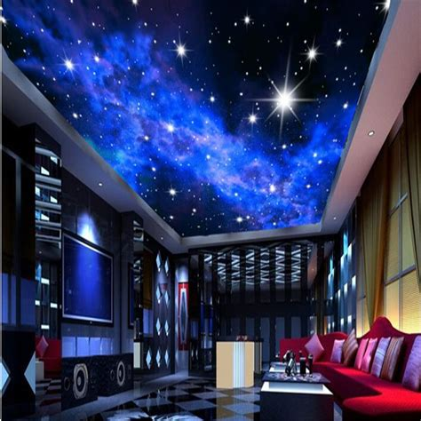 stars bedroom ceiling custom photo wallpaper ktv 3d star hotels ceiling dream