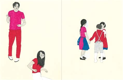 Kaos Keren The White Stripes White Blood Cells keren taggar illustrator spreads from my project