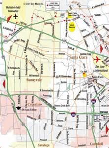 where is sunnyvale california on a map road map of sjc sunnyvale cupertino santa clara
