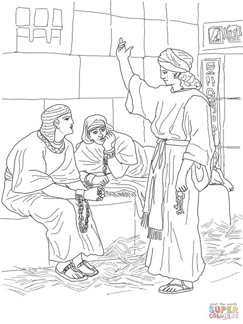 joseph in prison coloring page free printable coloring pages