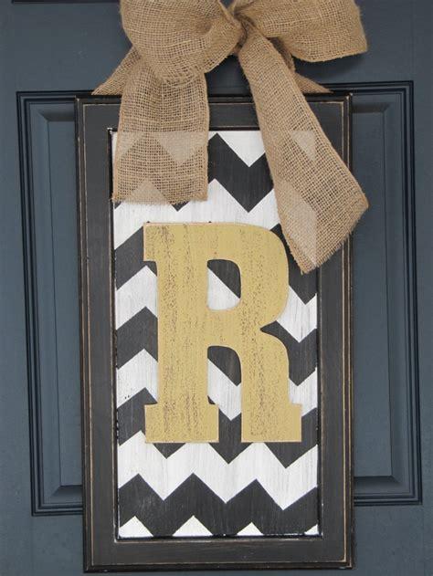 Wooden Letters For Front Door Door Decor Large Chevron Wood Letter For Front Door Picture Walls Chevron And