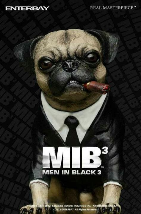mib pug figures perfeitas de will smith j e jones k em in black 3