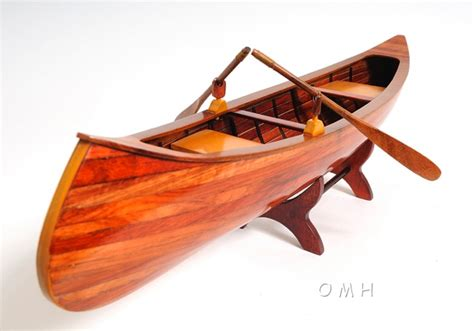 Handcrafted Canoes - indian canoe omh handcrafted model canoe models