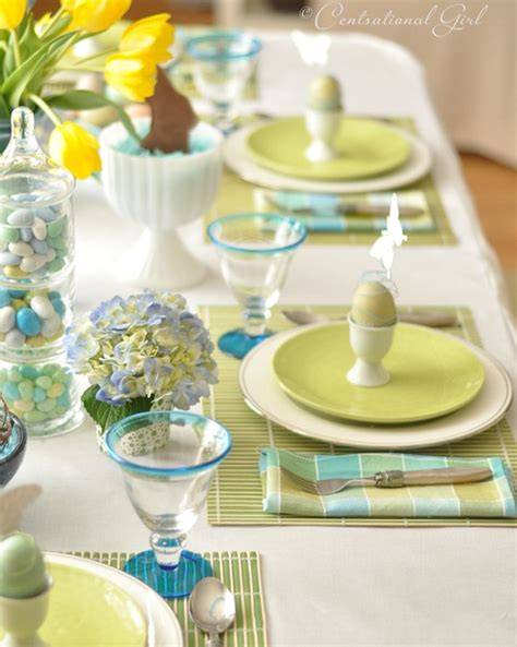 Easter Table Settings by An Easter Table Centsational