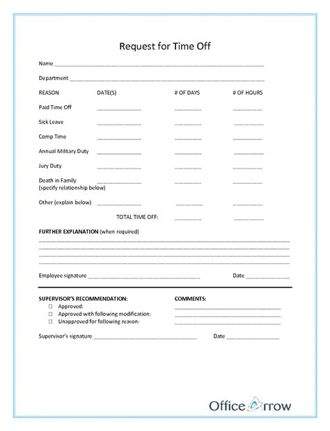 Time Request Template by Time Request Form Gallery Cv Letter And