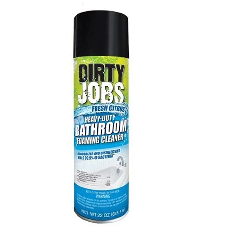 heavy duty bathtub cleaner dirty jobs heavy duty fresh citrus bathroom foaming