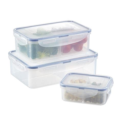 Glass Container Lock Lock 9set lock lock divided food storage the container store