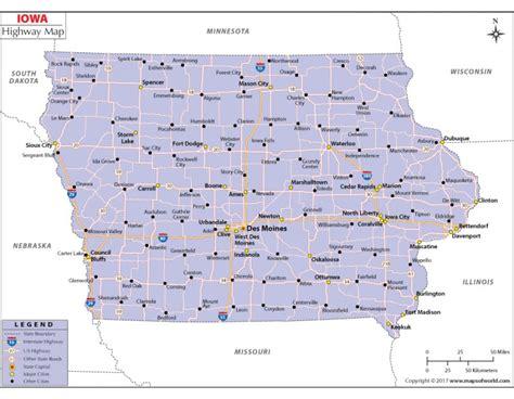 map usa iowa buy iowa road map