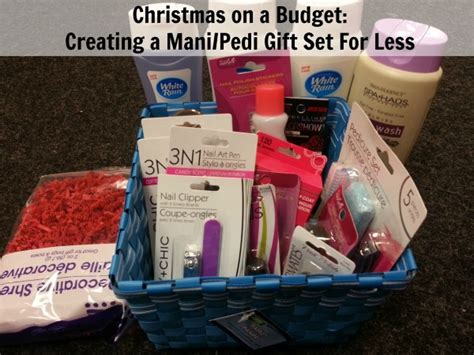 creating a mani pedi gift set for less christmas on a