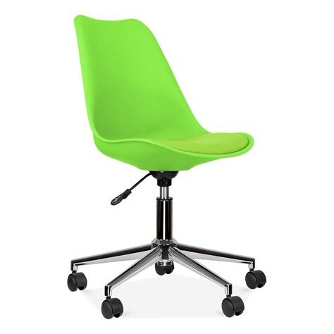 green desk chair eames inspired lime green office chair with castors cult uk