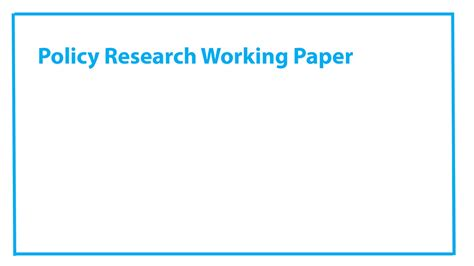 policy research working paper publications