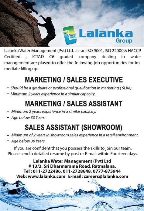 showroom sales assistant jobs vacancies in sri lanka top sales marketing executive sales marketing assistant