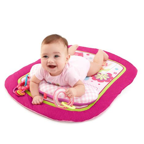 Pretty In Pink Play Playmat bright starts pretty in pink savanna prop play mat