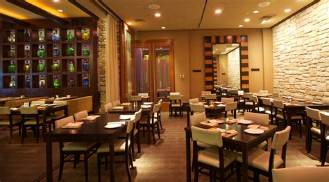 dining room in lounge bar restaurant at tysons galleria va lebanese