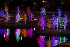 vitruvian park holiday lights photograph by john babis