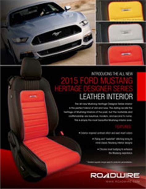 roadwire leather seats prices buy leather kit for ford 15 18 mustang v6 eco gt coupe