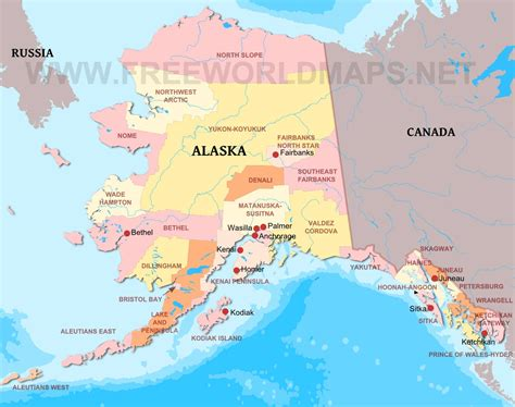 map of the united states with alaska alaska maps