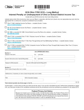 2016 2018 form oh odt it/sd 2210 long fill online