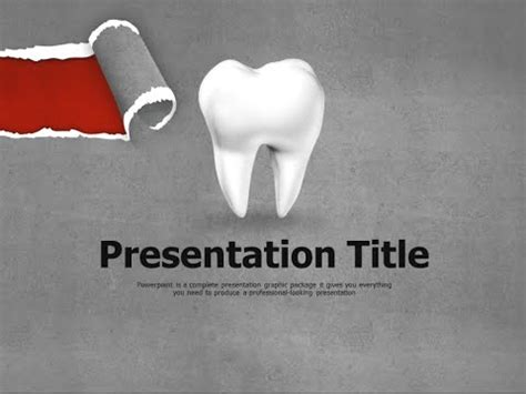 dental powerpoint themes dental caries animated ppt template youtube
