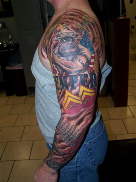 quarter sleeve tattoo marine corps marine sleeve tattoodenenasvalencia