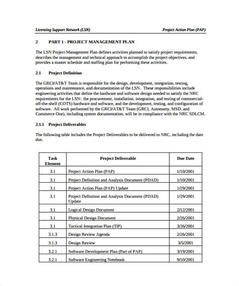 Construction Project Template Project Plan Template 9 Documents In